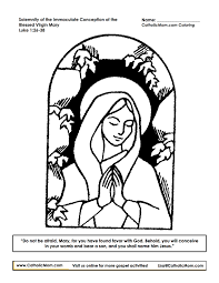 virgin mary colouring pages free download