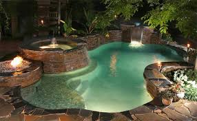 Fire Pit With Water Feature - fire water combo in 15 traditional pools with fire pits home