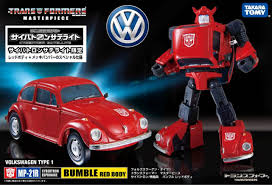 volkswagen bumblebee takara tomy masterpiece mp 21r bumble red body