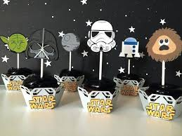 wars decorations 12 wars cupcake toppers wars birthday party or baby
