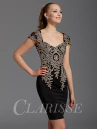 black and gold dress clarisse cocktail dress 2942 promgirl net