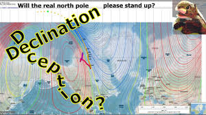 declination map flat earth magnetic compass declination elaborate globe