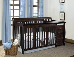 mini crib and changing table black cribs shippg with drawers attached changing table crib combo