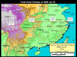 Map Of Nepal In Asia by Nasa Total Solar Eclipse Of 2009 July 22
