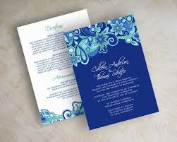 Wedding Invitations And Rsvp Cards Together Wedding Invitation Cards Blue Yaseen For