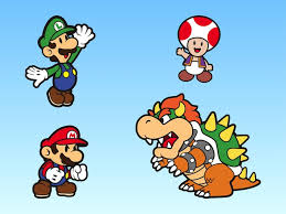 super mario bros characters vector free free download