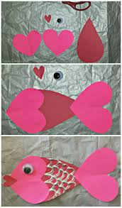 valentine heart fish craft for kids fish pet theme and fish crafts