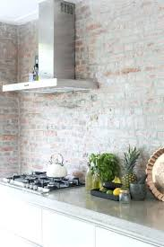 brick tile backsplash kitchen whitewash brick backsplash insideradius