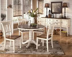 furniture elegant white round kitchen table monarch