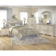 Ashley Furniture Catalina Panel Bedroom Set in Antique White