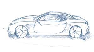 sports cars side view car sketch perspective one point fundamentals bk sketch