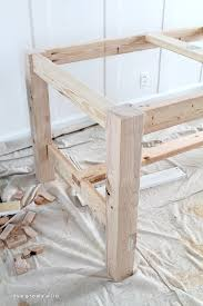 How To Build A Dining Room Table Plans by Diy Farmhouse Table Love Grows Wild