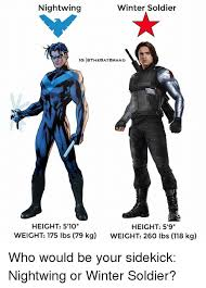 Winter Soldier Meme - nightwing winter soldier ig iothebatbrand height 5 10 height 5 9