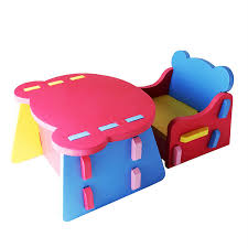 kids plastic table and chairs multi part dismantling type children learn to use eva foam chairs