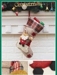 p top christmas stocking gift bag kids xmas noel decoration
