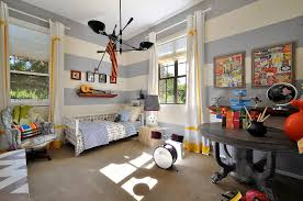 home design eclectic nursery design with floor lamp and striped