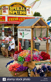 wooden roses wisconsin milwaukee push cart sell wooden roses spiral spuds fast