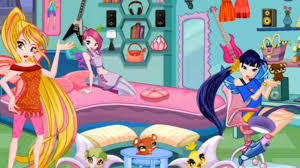 winx club special room decor play game