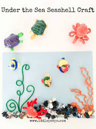 under the sea seashell craft iddle peeps