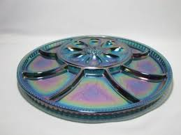 glass deviled egg plate 91 best blue carnival glass images on carnivals