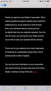 tesla model 3 deliveries delayed officially teslamotors