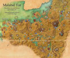 Map Quests Malabal Tor Map The Elder Scrolls Online Game Maps Com
