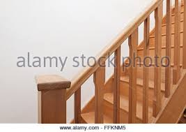 Wooden Banister Rails Detail Of Steep Wooden Staircase And Banister Rail And Post In