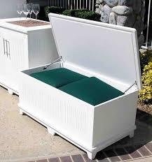 Cushioned Storage Bench Patio Furniture Storage Bench Roselawnlutheran