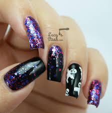 halloween ghosts u0026 glitter gradient nail art lucy u0027s stash