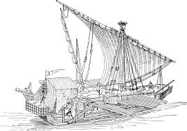 boat coloring page love of coloring