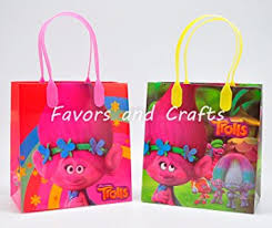 party favor bags works trolls 12 pcs goodie bags party favor bags