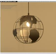 Wohnzimmer Lampe E27 Nordic Modernen Kabel Globe Ball Pendelleuchte Weltkarte E27 Lampe