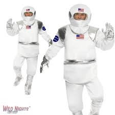 Astronaut Costume Fancy Dress Costume Mens Spaceman Astronaut Costume Med 38 40