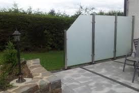 Trennwand Garten Glas 03285420170208 Sichtschutz Aus Metall Und Glas U2013 Filout Com