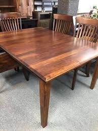 Maple Dining Room Table And Chairs Maple Dining Room Tables X Shaker Leg Table Opens To W 4 Self