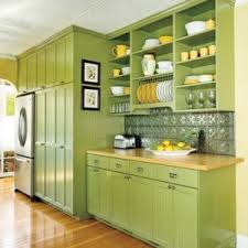 kitchens with shelves green monochromatic kitchens vanrossun contracting