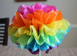 my spare time craft tissue paper pom poms