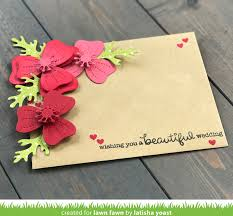 Wedding Wishes Envelope The Lawn Fawn Blog Lawn Fawn Intro Pretty Poppies