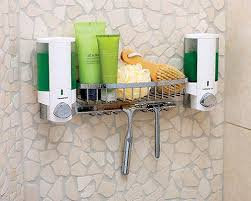 Bathroom Shower Shampoo Holder The Convenient Shower Caddy Dispenser With Top Self Soap Dish