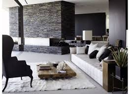gorgeous living room ideas with white leather furniture sofa black