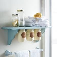 Mason Jar Bathroom Organizer 25 Cute Diy Mason Jar Storage Ideas Space Saving Mason Jar