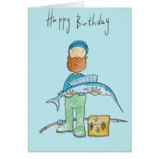 fishing birthday cards u0026 invitations zazzle co uk