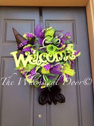petite witch hat and legs wreath witch from thewhimsicaldoor on
