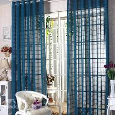 Custom Sheer Drapes Elegant Contemporary Indigo Blue Custom Sheer Curtain Beddinginn Com