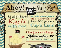 baby shower invitation cards pirate baby shower invitations
