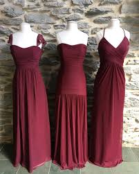 Wine Colored Bridesmaid Dresses Care For Some Wine These Long Burgundy Mesh And Chiffon David U0027s