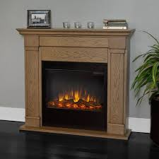 real flame lowry 46 inch slimline electric fireplace shown installed in room