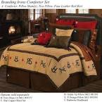 Branding Irons Rustic Western Bedding Ensemble