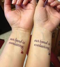 picture of bff wrist tattoos for three friends