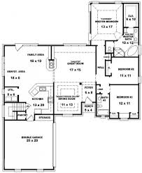 One Story 4 Bedroom House Plans by 4 Bedroom House Plans One Story No Garage Arts